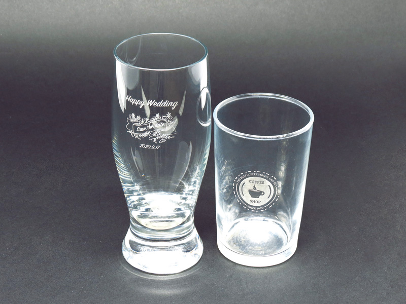 レーザー彫刻グラス(ガラス製)